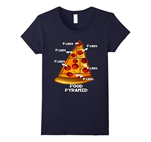 food pyramid pizza shirt - 3