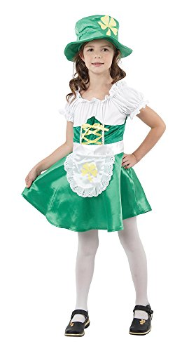 Bristol Novelty Leprechaun Costume Girl Medium Child Age 5 - 7 -