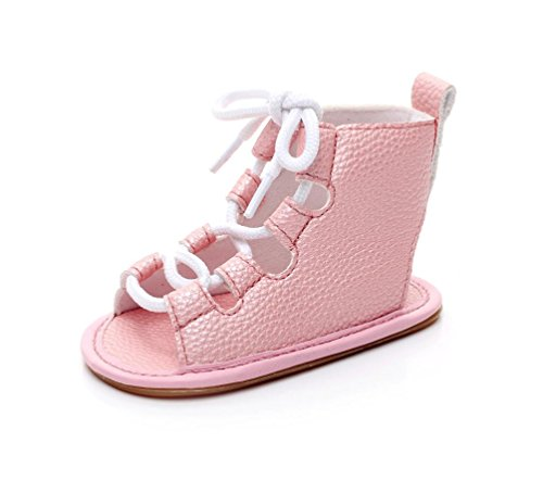 Voberry Baby Girl PU Leather Sandals Gladiator Bandage Roma Summer Boots Infant Toddler Shoes