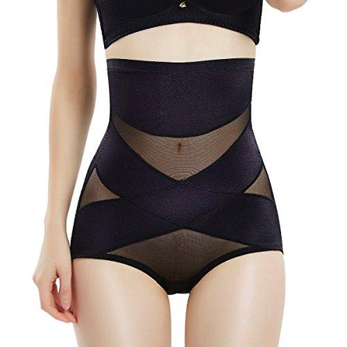 Movwin Women Body Shaper Seamless Briefs Butts Lifter High Waist Panties Sexy Shapewear Tummy Control Panties For Control Waist Shaper (XL, Black1)