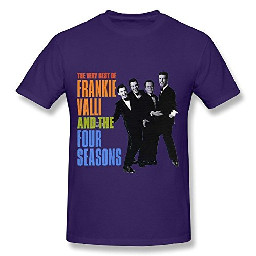 Danielrio Mens Frankie Valli and The Four Seasons Tour T Shirt GoldX-Large