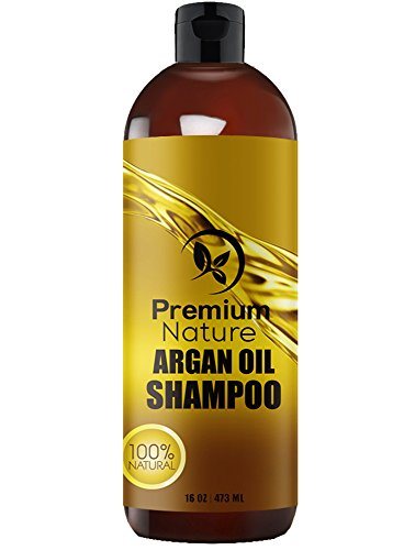 Argan Oil Shampoo Sulfate Free - Natural Clarifying & Volumizing, Gentle on Curly & Color Treated Hair, Deep Conditioning Hair Growth Treatment Anti Dandruff & Hair Loss Formula For Men & Women 16 oz