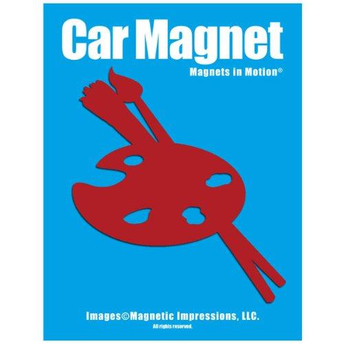 Artist Palette Car Magnet Red - Magnet Artists Palette