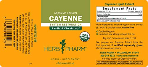 Herb Pharm Certified Organic Cayenne Liquid Extract for Cardiovascular and Circulatory Support - 4 Ounce by Herb Pharm (Image #5)