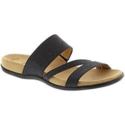Gabor Tomcat 703 - Sparkling Glitter Schwarz 47 (Black) Womens Sandals 9 US