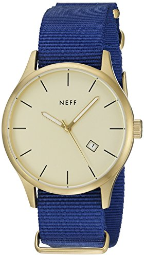 NIXON Men s Corporal Series Analog Quartz Watch Leather or Canvas Band 100 M Water Resistant and Solid Stainless Steel Case