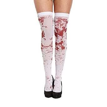 YWLINK Mujeres Sexy Horror Blanco Fiesta De Halloween Sangrienta ...