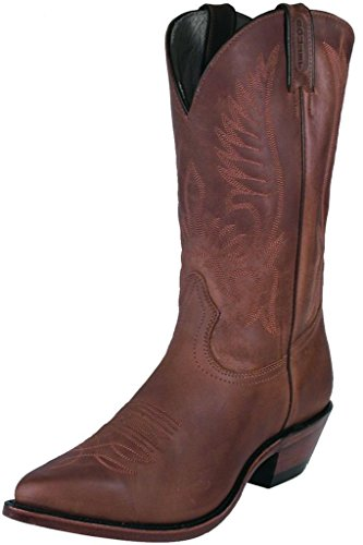 Bottes américaines - santiags: bottes country BO-1867-50-EEE (pied fort) - Homme - Marron