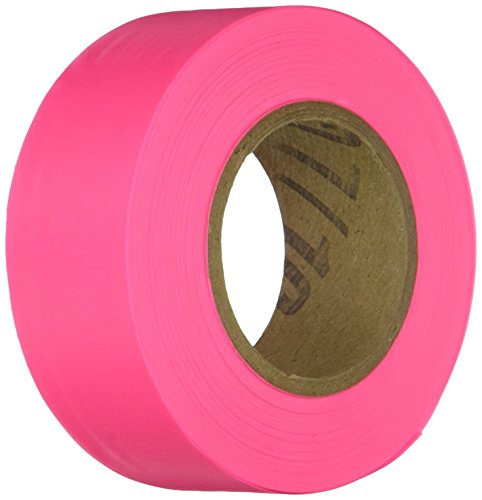 IRWIN Tools STRAIT-LINE Flagging Tape, 150-foot, Glo-Pink (65603) (Vinyl Tape Plastic)
