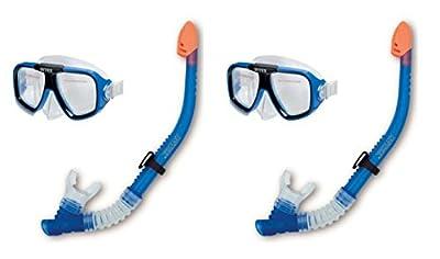 INTEX Reef Rider Adult Swimming / Diving Mask & Snorkel (Set of 2) | 55948