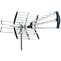 OUTDOOR HD TV ANTENNA AMPLIFIED DIRECTIONAL HDTV HIGH GAIN UHF VHF FM 180 MILES, Best suited to metropolitan and fringe areas to receive UHF channels.