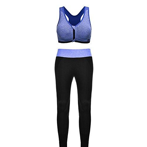 Reggiseno e Sportivo Pantaloni Blu per Traspirante Fitibest Fitness Vestiti per di Palestra e Sportivi Vestiti Tessuto Ottima Yoga Qualità nAY6X8x