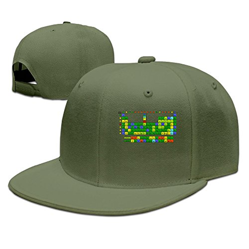 SSEE Unisex-Adult Periodically Periodic Table Of Elements Snapback Baseball CapHat ForestGreen (Assassin Creed Costume For Kids Cheap)