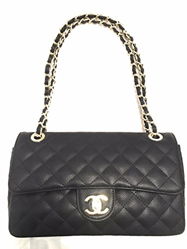 Chanel Purse Bag (KC Luxurys Designer Handbag Envelope Chain Shoulder Bag Black Handbag)