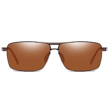 KJDFN Gafas De Sol Cuadradas De Material Metálico Ligero ...