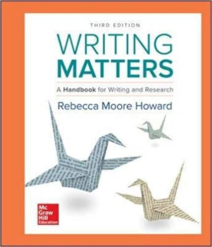 Writing matters 3rd edition