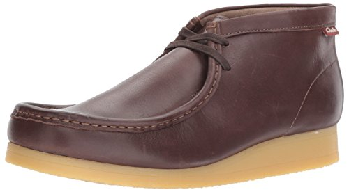 Clarks Men's Stinson Hi New Color Chukka Boot, Dark Brown Leather, 9.5 M US