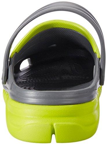 Crocs Duet Sport max - Zuecos de sintético para hombre Grigio (Graphite/Volt Green)