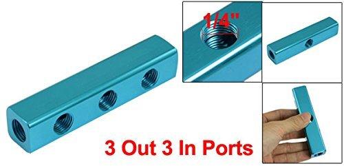 Multifuncional 3 en 3 de cada línea aérea colector Splitter Bloque Azul - - Amazon.com