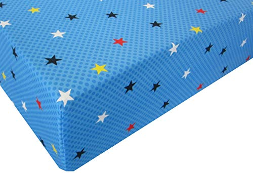 Justice League Young Superheros 100% Polyester (Fitted Sheet ONLY) Size Toddler Boys Girls Kids -