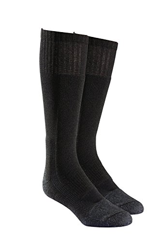 Military Wick Dry Maximum Mid Calf Boot Sock (2 Pack - X-Large, Black)