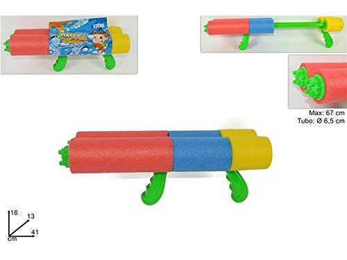 DUE ESSE (DUE))- Tubo SPARA Acqua Pistola 41cm MI009436, Multicolore, 123
