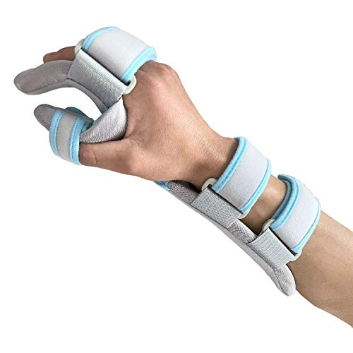 (Hand Splint Functional Resting Wrist Support Moderate Stabilizing Brace for Carpal Tunnel, Tendinitis & Inflammation, Forearm Wrist Splint, Right (M for Palm Length 5.1-7.1 inch))