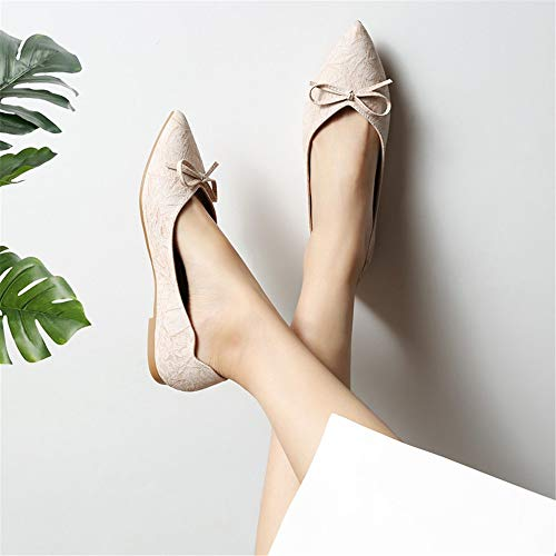 flat bow shoes shoes work EU Shallow mouth pointed shoes FLYRCX pregnant women single shoes 36 ladies nwICxf