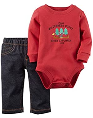 Carter's Baby Boys' 2 Piece Graphic Bodysuit Set (Baby)