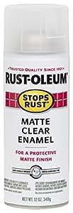 Rust-Oleum 285093 Stops Rust Protective Enamel Spray Paint, Matte Clear