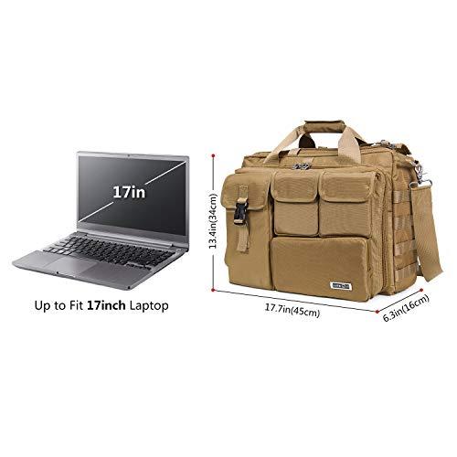 Lifewit 17'' Men's Military Laptop Messenger Bag Multifunction Tactical Briefcase Computer Shoulder Handbags by Lifewit (Image #1)