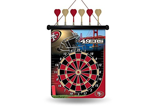 NFL San Francisco 49ers Magnetic Dart Board San Francisco 49ers Rug