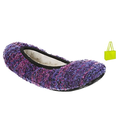 Dearfoams Softie Slipper En Cadeauzak Paars / Multi