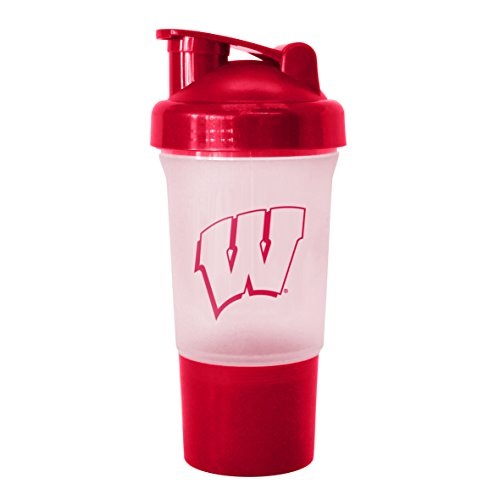 NCAA Wisconsin Badgers Protein Shaker Bottle, 16-ounce