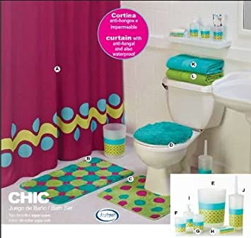 Amazon Com Limited Edition Chic Complete Bathroom Set With