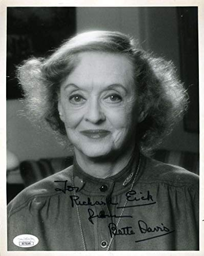- BETTE DAVIS Coa Hand Signed 8x10 Photo Autograph - JSA Certified