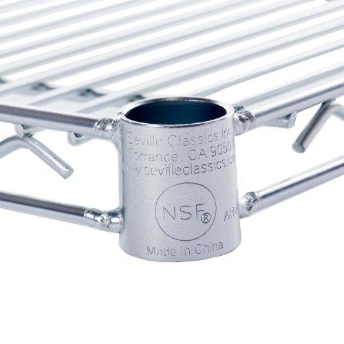 Seville Classics UltraDurable Commercial-Grade Steel Wire Shelf, 36'' x 18'', UltraZinc, NSF-Certified by Seville Classics (Image #1)