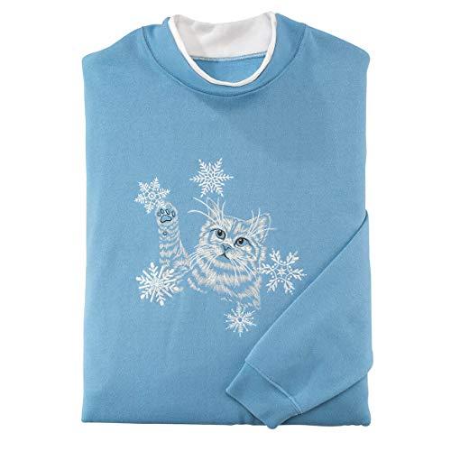 Miles Kimball Kitten Snowflakes Sweatshirt