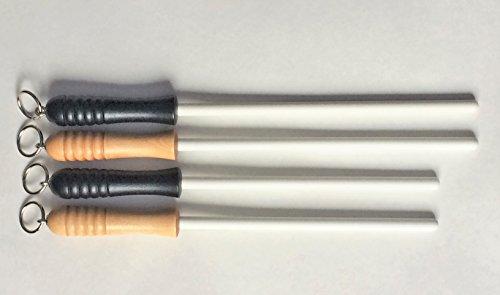 "Idahone Fine Ceramic Sharpening Rod (12"", Black Handle)"