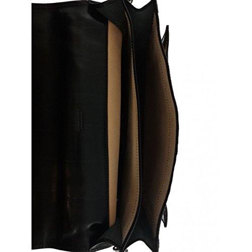 Maletín En Piel Color Negro - Peleteria Echa En Italia - Business