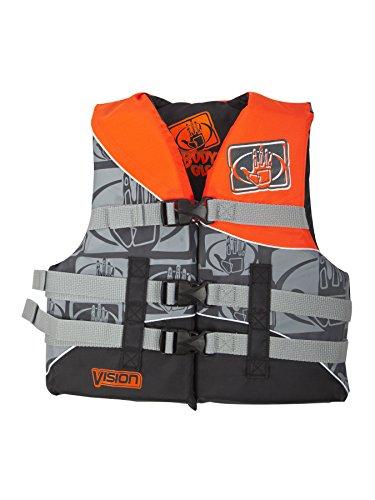 Vest Body Glove Nylon - Body Glove Vision U.S. Coast Guard Approved Type II Nylon PFD Life Jacket, Neon Orange, Youth 50-90-Pound