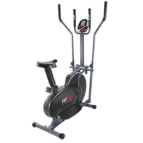 Fitfiu Fitness BELI-120 - Bicicleta multifunción Elíptica y Estática con sillín regulable y disco de inercia de 5 kg, 2 manillares, pantalla LCD y pulsómetro a buen precio