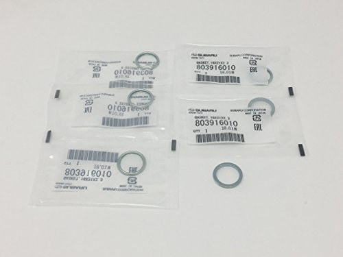 Subaru 2011 to 2018 Oil Pan Crush Washers 16mm 803916010 Genuine Plug Lot of 6