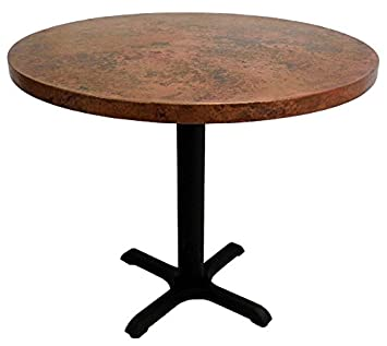 Amazoncom 30 Round Copper Top Dining Table with Cast Iron X