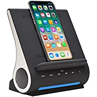Azpen Dockall D100 - Qi Wireless Charging Docking Station with Bluetooth Speaker System