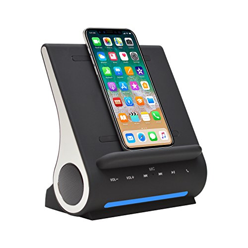 Qi Wireless Charging Docking Station with Bluetooth Speaker System (Wireless Docking Station)