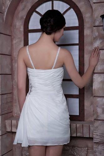 George Bride Fácil zufalls informellen Punta Corto Para Vestido de noche Weiß