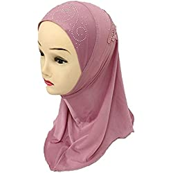 Girls Kids Muslim Hijab Islamic Arab Scarf Shawls Water Soluble Decals for 3 to 8 years old Girls