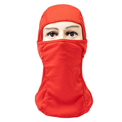Breathable Dustproof Face Mask Cycling Helmet Balaclava CS Ninja Hood Watermelon Red -