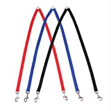 ZEALUX Double Dog Leash Coupler Dog Head Lead,Walk Two Dogs with 1 Leash (Red)